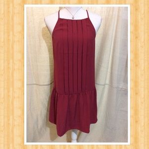 Loft Outlet pleated front sleeveless dress
